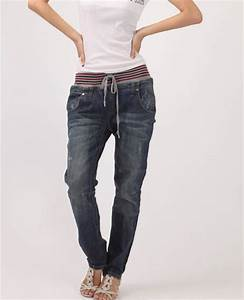 Sell loose baggy jeans women pants,denim pants, hip-hop ...