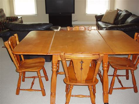 antique maple dining table maple drop leaf table and 4 chairs for sale antiques com