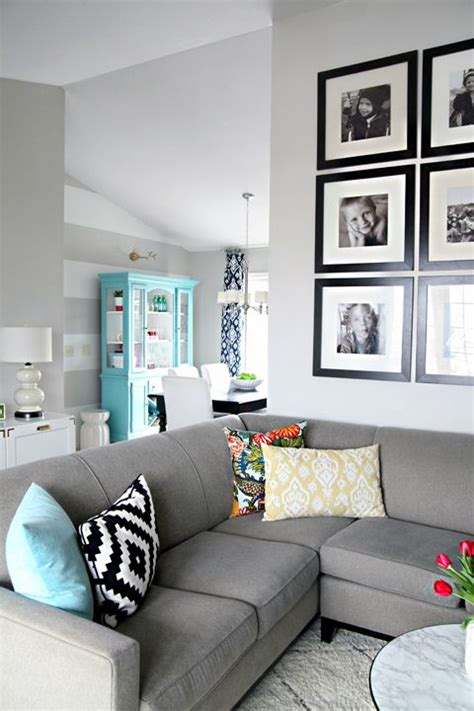 how to decorate with gray walls ideas for how to style a couch with toss cushions living room decorating and decor with gray