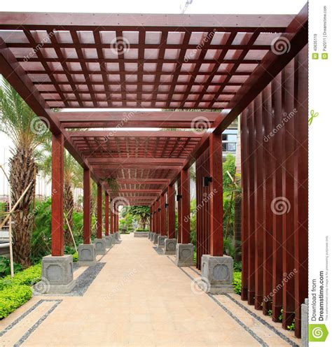 western style landscaping garden residential in china stock photo image 40635119