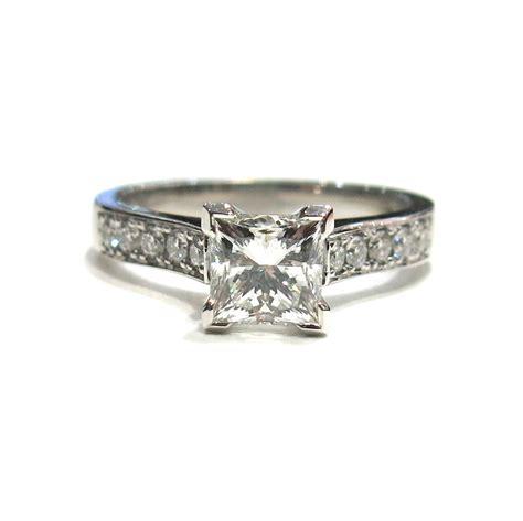wedding ring corner corner claw princess cut engagement ring taing jewellers