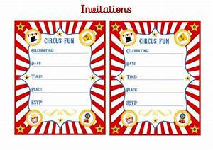 Blank Circus Invitations Templates Free - ClipArt Best