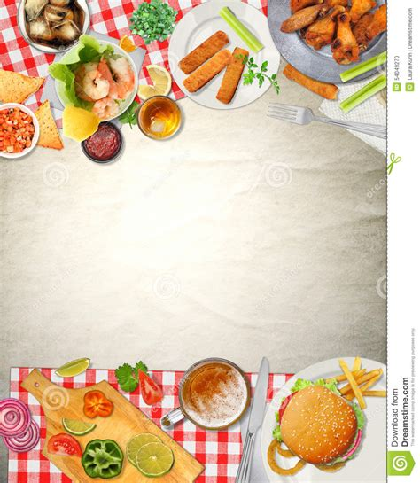 fond cuisine fond bar picnic cuisine food illustration stock