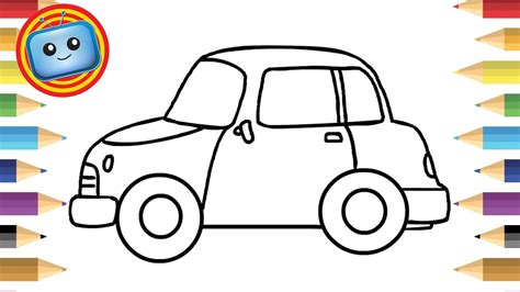draw  car  kids simple drawing game animation