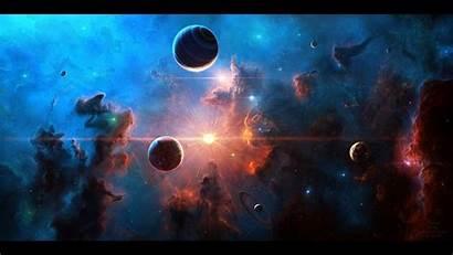 Space Moon Stars Planet Nebula Wallpapers Desktop
