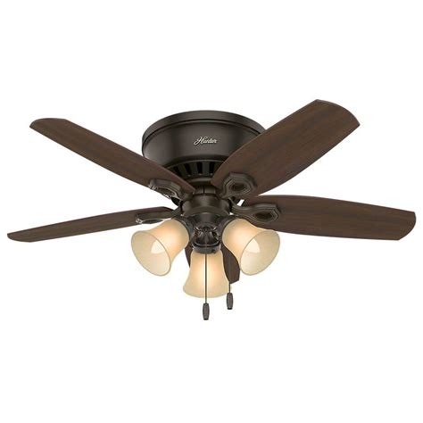 small low profile ceiling fans hunter builder low profile 42 in indoor new bronze