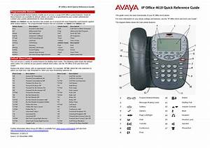 Avaya Ip Office Phone Quick Reference Guide