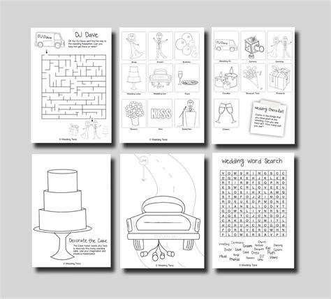 kids activity book printable kids wedding activity book page 05 printable 360 degree