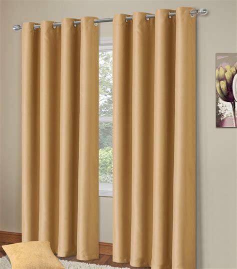 108 inch drop blackout curtains plain beige colour thermal blackout bedroom