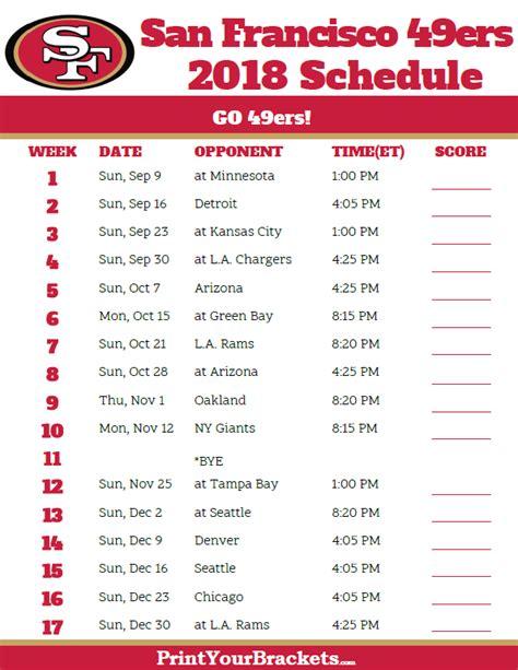 Texans Schedule 2018 Printable