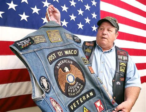 Veterans' Motorcycle Vests A Tribute To Fallen Comrades