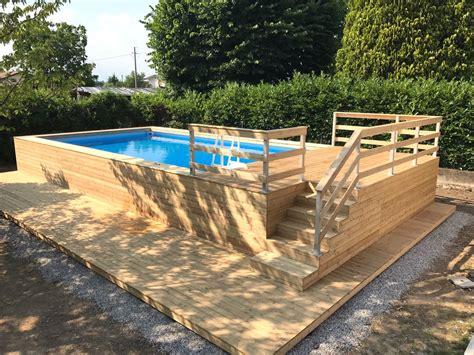 piscina terrazzo piscine fuori terra in legno con piscine fuoriterra