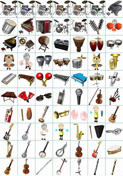 Wii Sheet Instruments Spriters Resource Return Sheets
