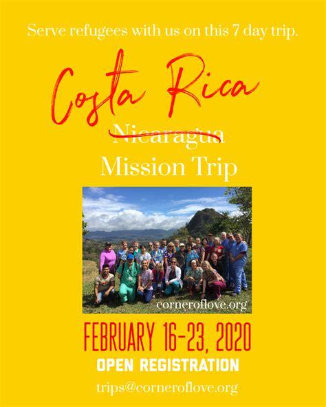 february mission team costa rica corner love corner love