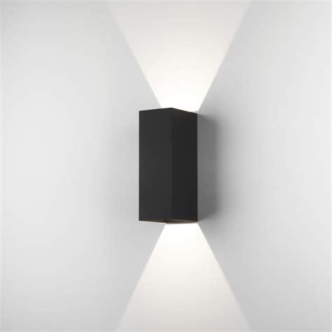astro oslo 225 led outdoor wall light ip65 black