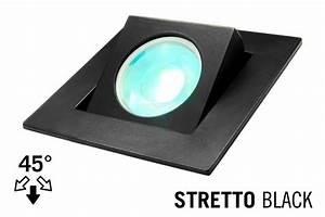 Led recessed lighting trim stretto gu fixture black