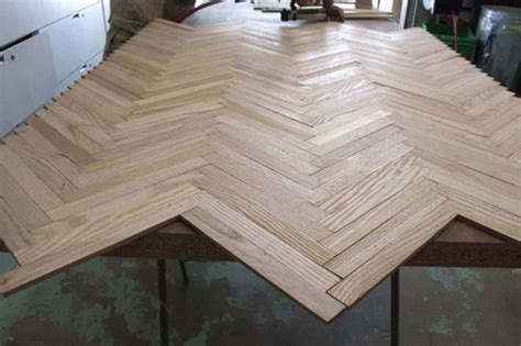 before & after: herringbone wood dining table ? Design*Sponge