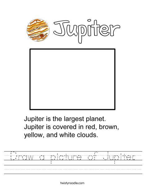 jupiter planet worksheet draw a picture of jupiter worksheet twisty noodle