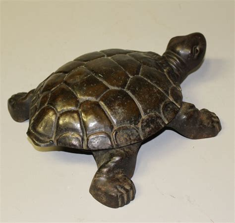 Bargain John's Antiques   Antique metal Turtle Spittoon