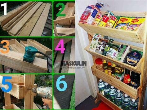 rak dapur  kayu pallet kitchen ideas