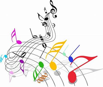Notes Transparent Musical Clipart Flow Card Colorful
