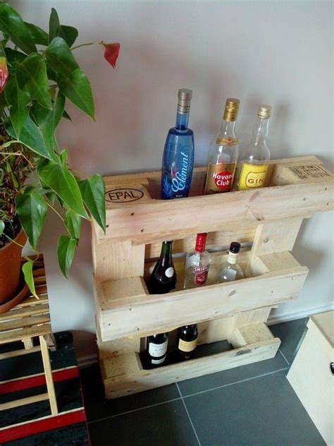 beautiful movable bar  wood pallet wine rack pallets