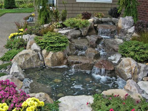 outdoor water ponds and falls vancouver backyard ponds other water features
