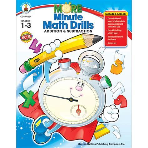 more minute math drills grades 1 3 cd 104264 carson