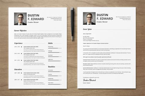 Set Resume Template by Premium Resume Cv Template Set By Snipescientist On