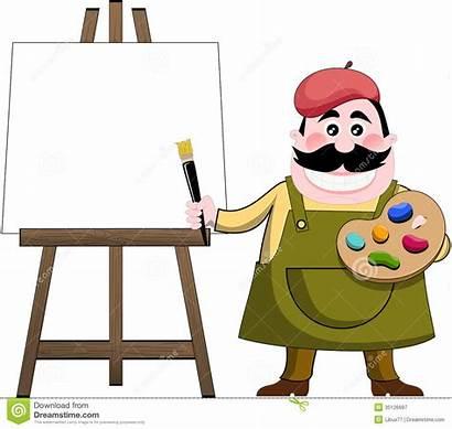 Painter Easel Artist Cartoon Painting Artista Blank