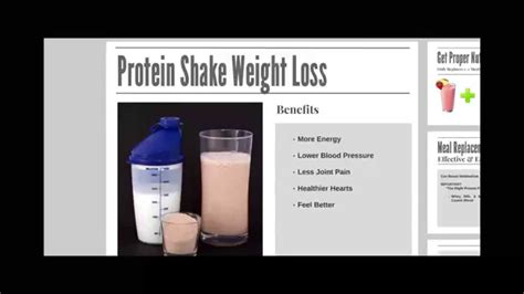Best Protein Shake Diet Plan for Weight Loss - YouTube