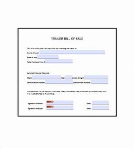 Rv Bill Of Sale Form Trailer Bill Of Sale 8 Free Word Excel Pdf Format
