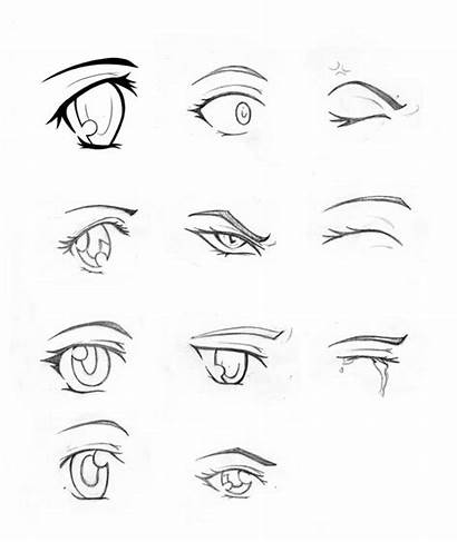 Eyes Coloring Draw Eye Drawing Anime Closed