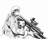 Soldier Coloring Army Drawn Drawing Pages Soldiers Soilder Popular Pencil Coloringhome sketch template