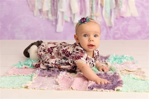 month  girlie baby session