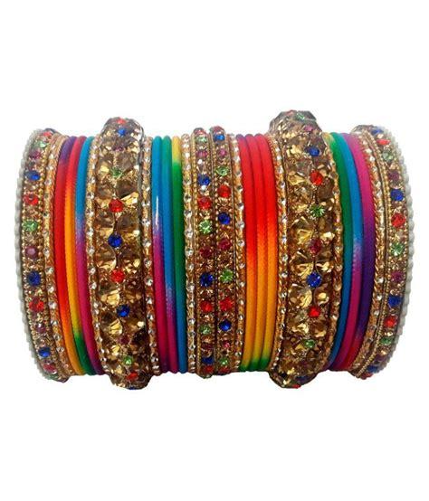Navya Collection Multicolour Bangles Set: Buy Navya ...