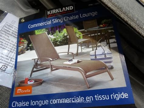 Kirkland Commercial Patio Furniture by Kirkland Signature Commercial Sling Chaise Lounge