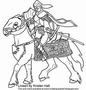 Knight Horse Coloring Pages Sketch Coloring Page