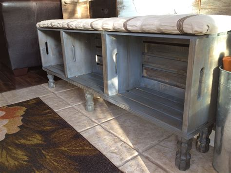 crate furniture bench crate bench home decor crate bench