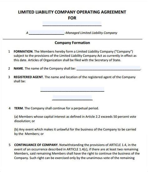 llc operating agreement template llc operating agreement