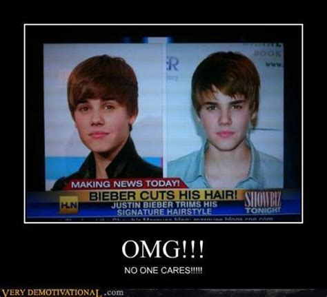 Omg No One Cares Meme - headline news in america quot justin bieber cuts his hair quot omg no one cares lol pinterest