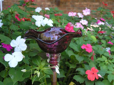 hand blown glass butterfly feeder   variety  colors