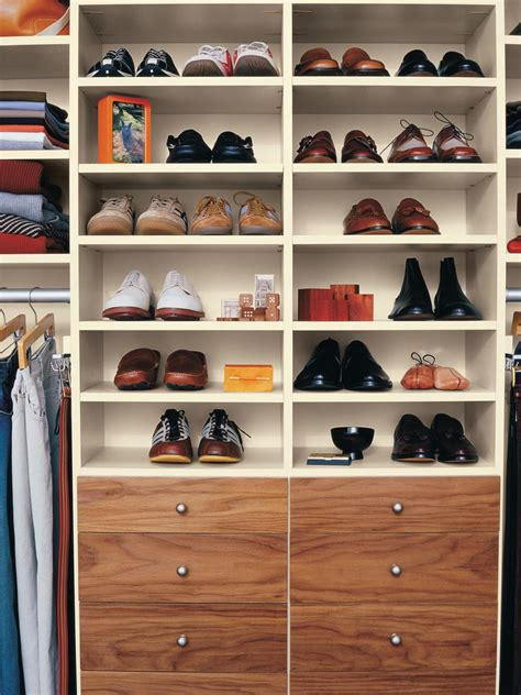 Storing Shoes In Closet by 10 Steps To A Decluttered Closet Hgtv