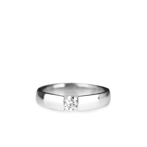 solitaire jonc diamant bague moderne or blanc couleur g