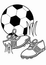 Coloring Football Pages Essentials Printable Soccer sketch template