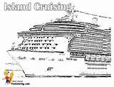 Cruise Coloring Ship Carnival Freedom Ships Disney Colouring Cruises Stupendous Line Yescoloring Club sketch template
