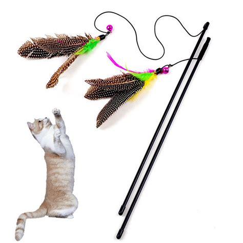 Pcs Colorful Multi Pet Cat Toys Cute Design Bird Feather