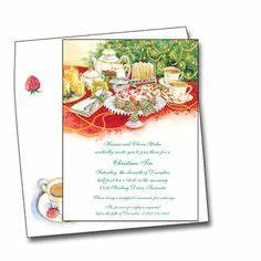 Christmas tea party wording