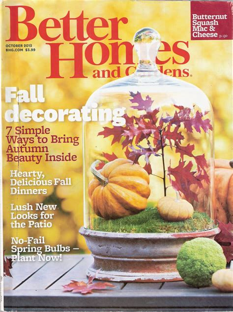 better homes and gardens magazine october 2012 fall decorating