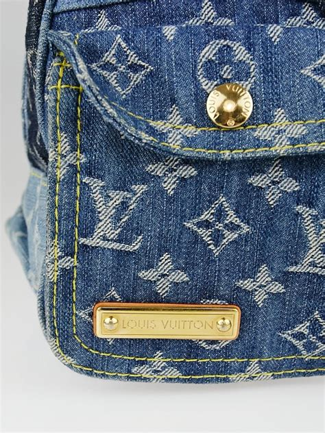 louis vuitton limited edition blue denim patchwork denim speedy bag yoogis closet